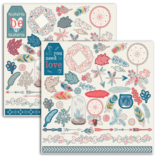 Stickers Hygge - 15 x 15 cm - 2 planches