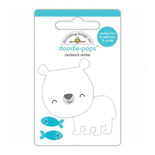At the Zoo - Stickers 3D Doodle Pops - Patrick l'ours polaire
