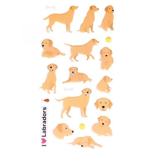 Autocollants 3D Labradors Puffies
