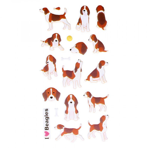 Autocollants 3D Beagles Puffies
