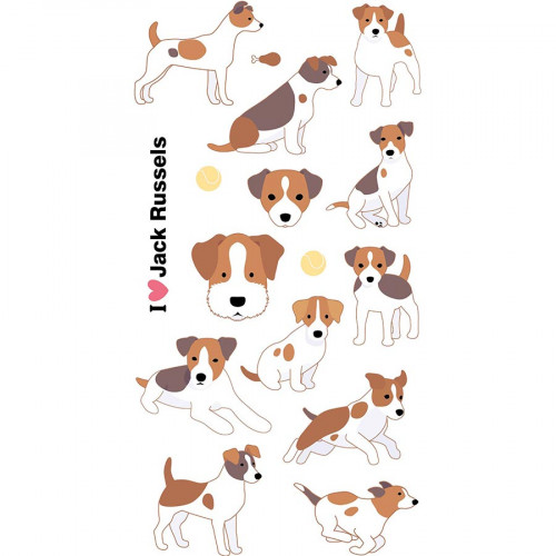 Autocollants 3D Jack Russels Puffies