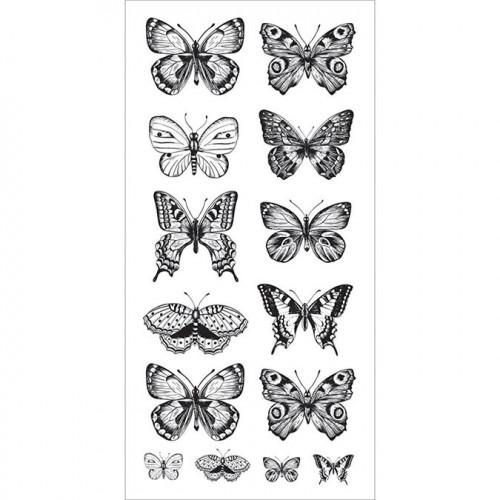 Stickers transparents Papillons