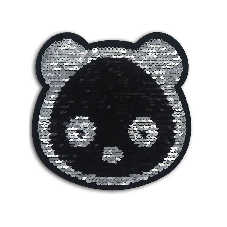 Sticker Panda en sequins réversibles