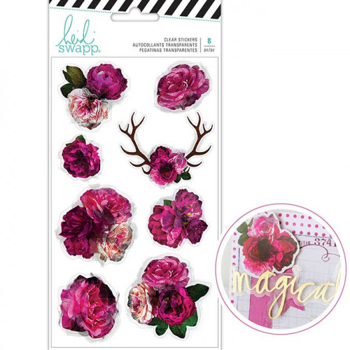 Stickers transparents Fleurs - 8 pcs