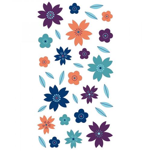 Puffy Stickers Fleurs