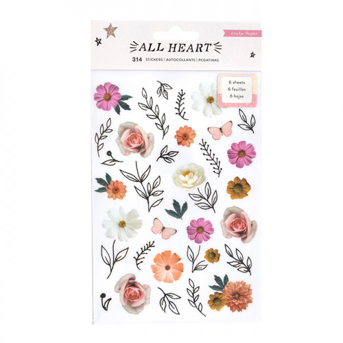 All Heart Stickers transparents - 6 planches