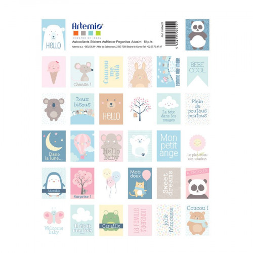 Adorable - Timbres autocollants