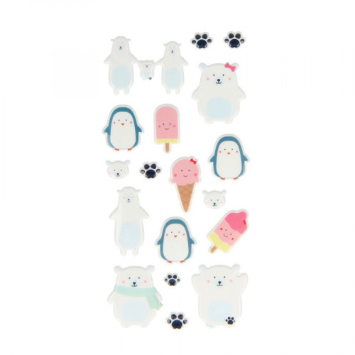 Adorable - Puffy Stickers - Glaces - 18 pcs