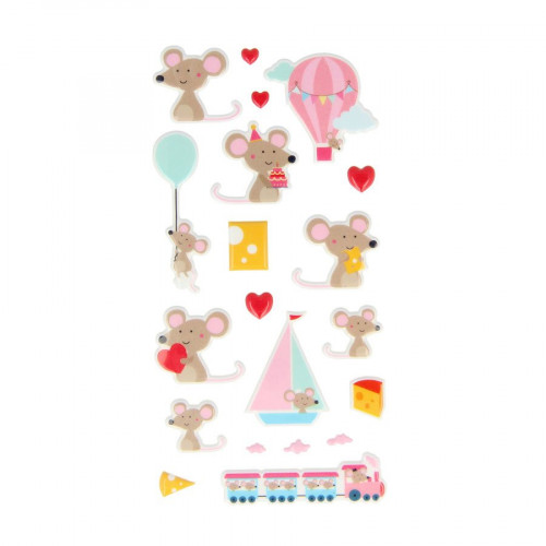 Adorable - Puffy Stickers - Souris - 20 pcs