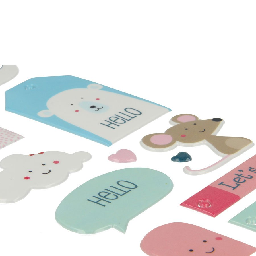 Adorable - Stickers Puffies - XL - 12 pcs