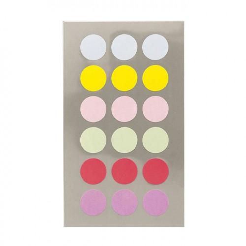 Gommettes - Ronds - Pastels - 15 mm