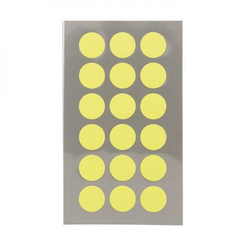 Gommettes - Ronds - Jaune fluo - 15 mm