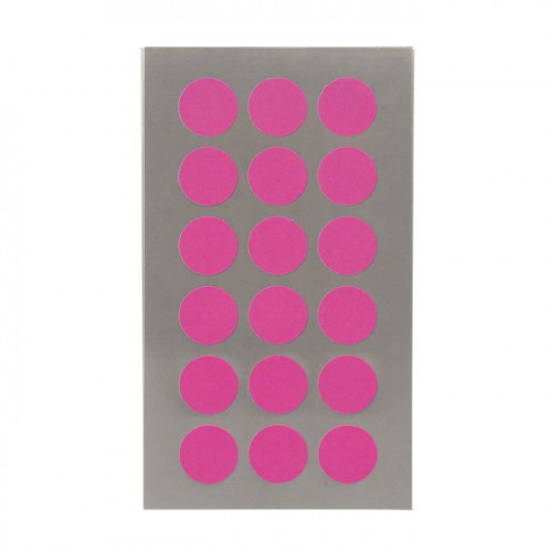 Gommettes - Ronds - Fuchsia fluo - 15 mm