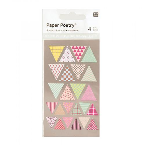 Stickers - Fanions multicolores - 4 planches
