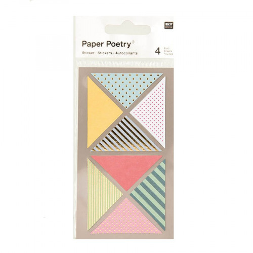 Stickers - Triangles métallisés - 4 planches
