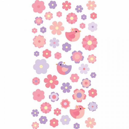 Autocollants 3D Fleurs Pâques Aquarelle Puffies