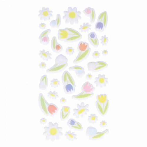 Autocollants 3D Fleurs Puffies