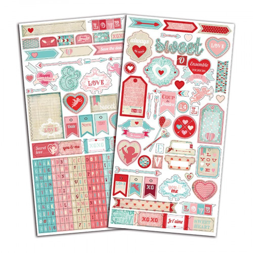 A la Folie - 2 planches de stickers fantaisie - 15 x 30 cm