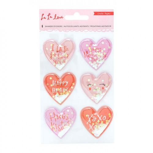 La La Love Shaker Stickers Cœur - 6 pcs