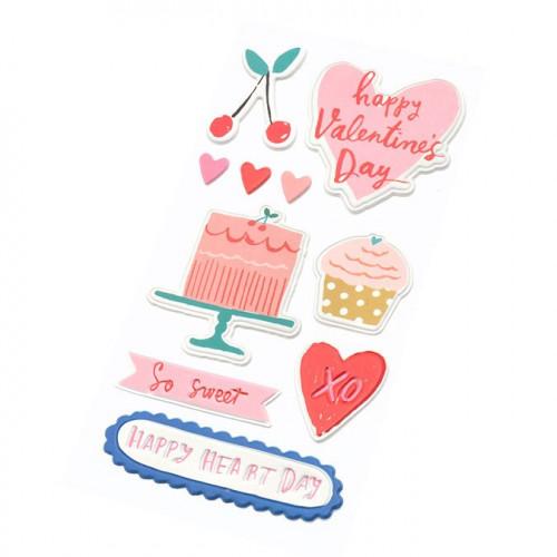 La La Love Puffy Stickers embossés - 10 pcs
