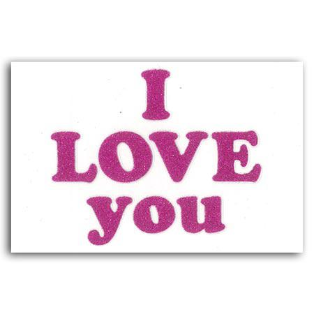 Oh Glitter ! - Stickers - I Love You Fuchsia