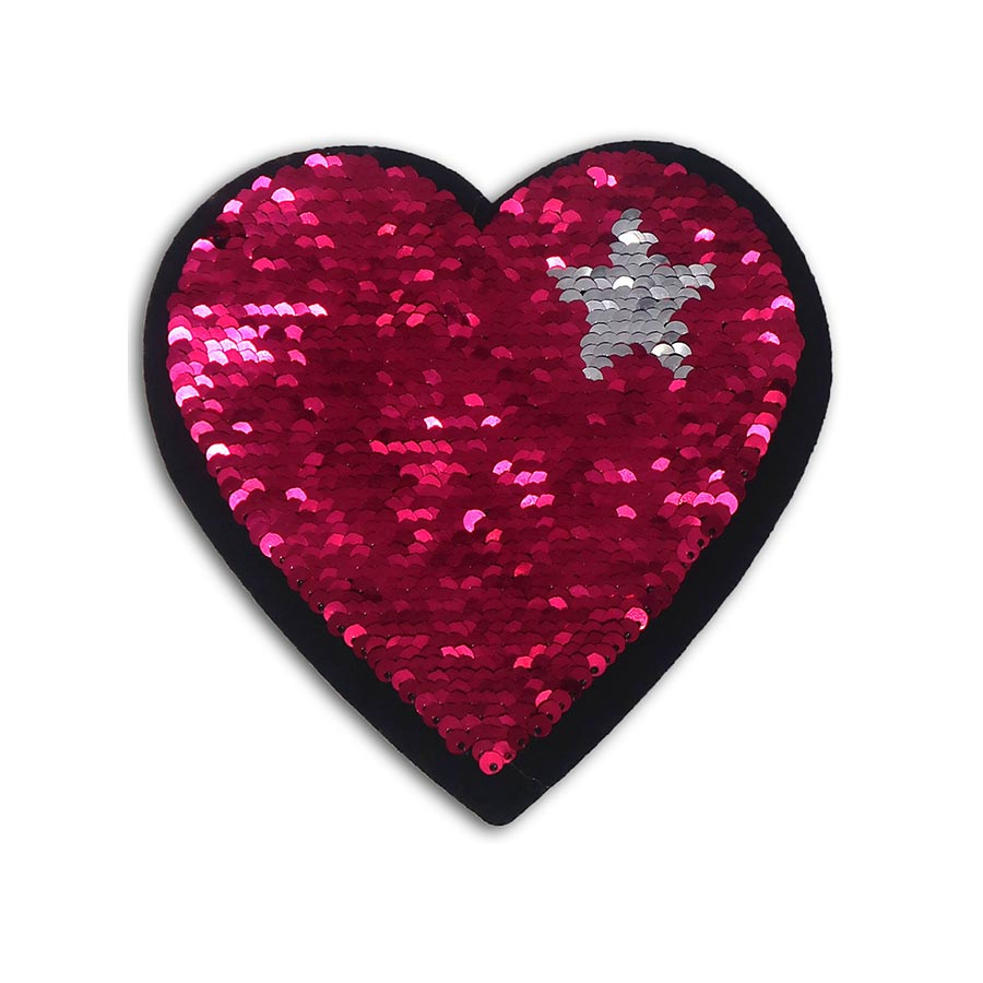 Sticker Cœur en sequins réversibles