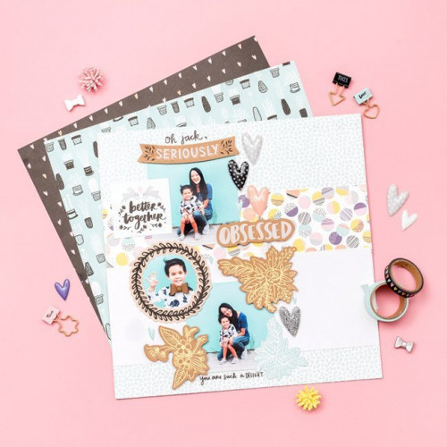 Shine On Puffy Stickers Cœurs - 98 pcs