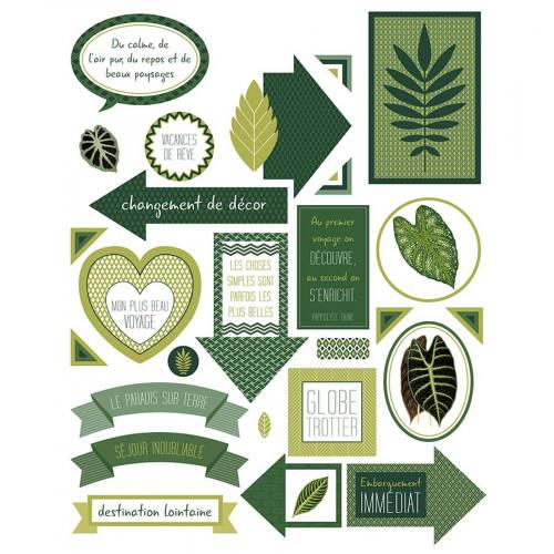 Autocollants Texte Deep Green