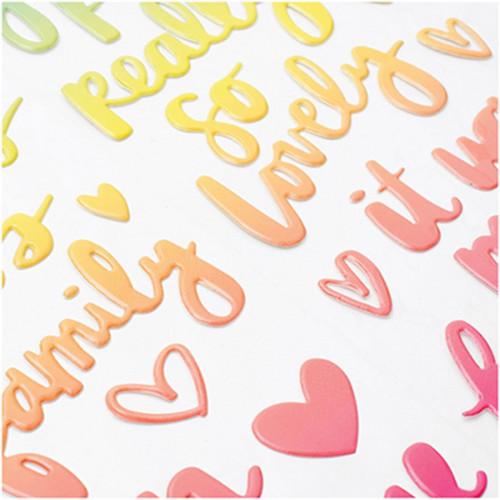 Puffy Sticker Mots Sunshine & Good Times - 36 pcs