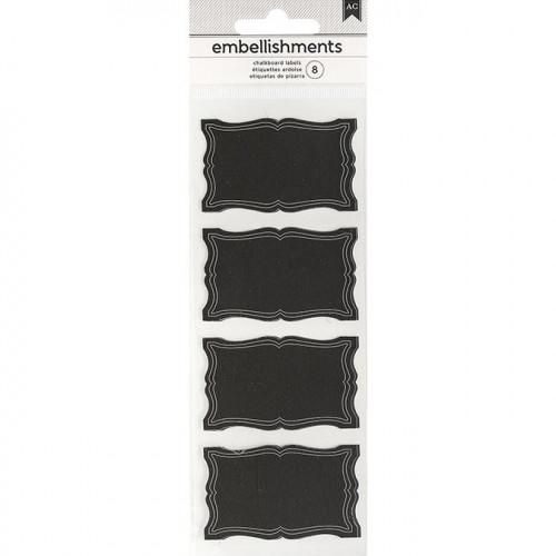 Etiquettes façon Tableau noir - 8 pcs