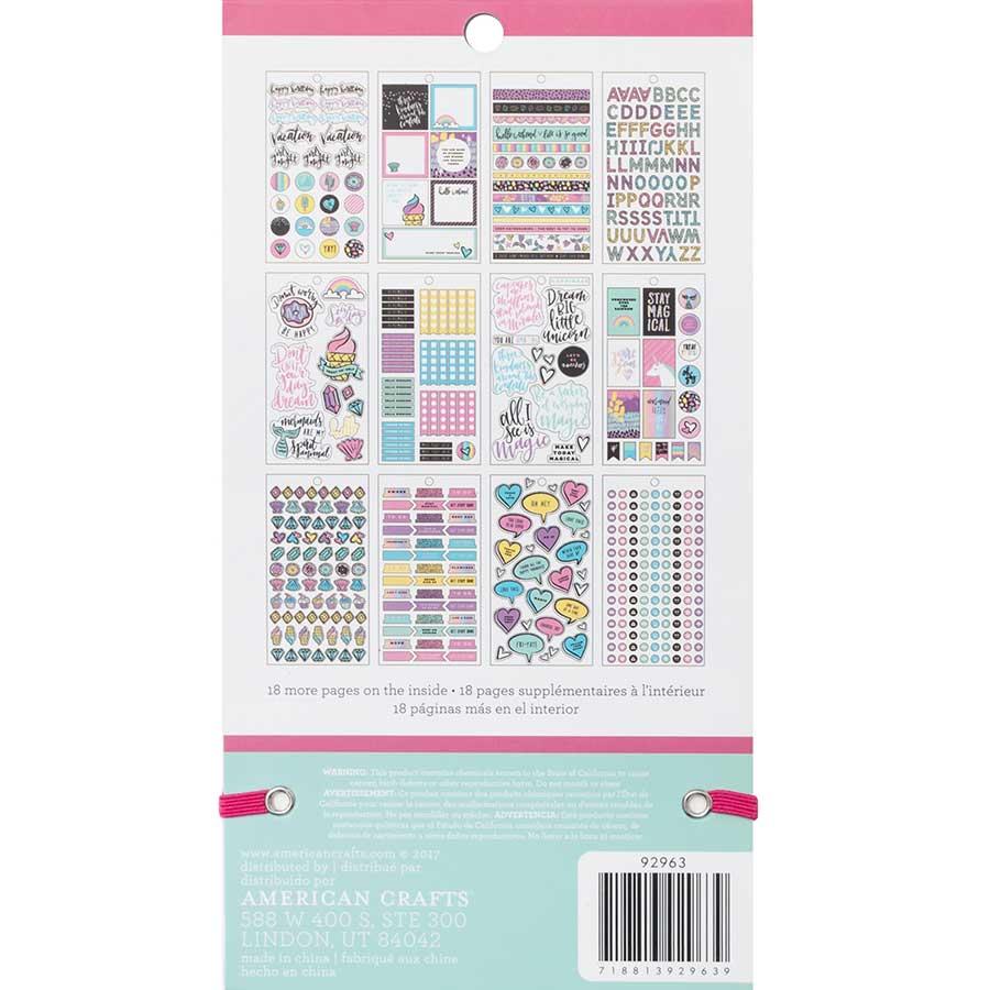Livret d'autocollants Planner Stickers Color Magic