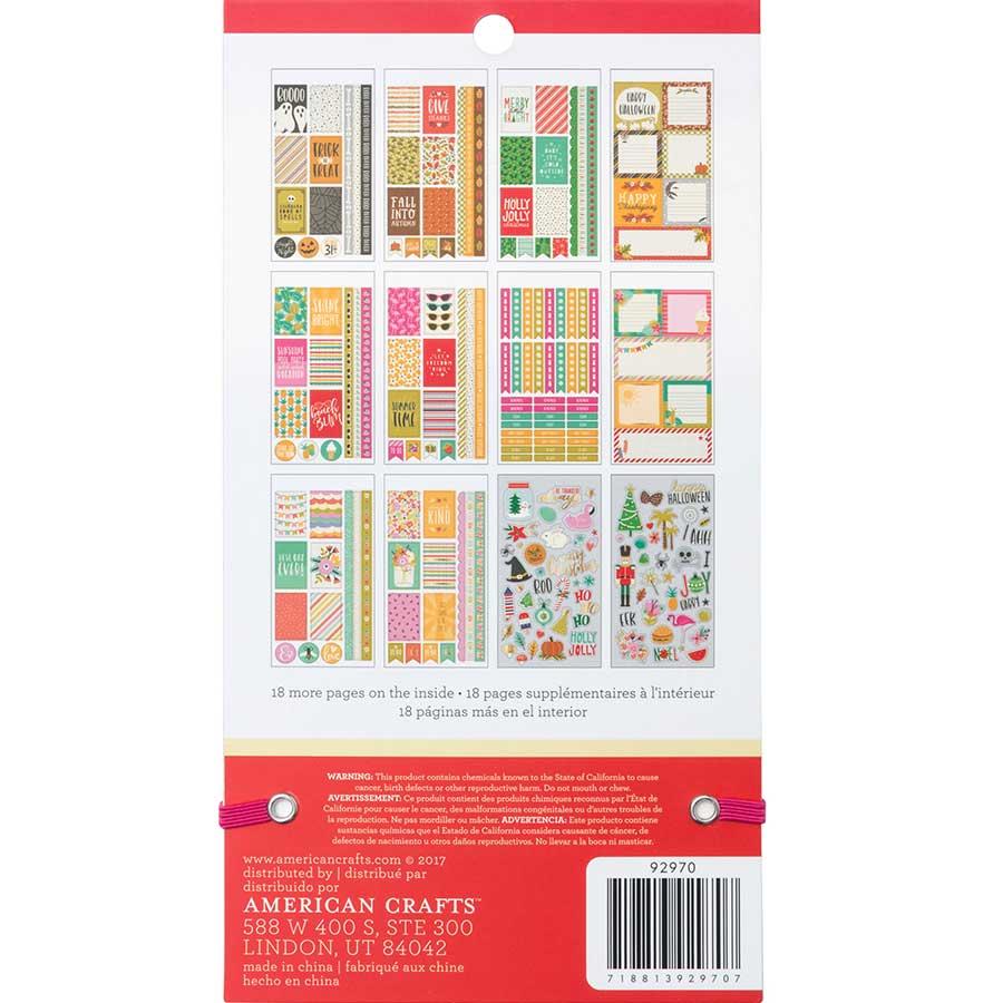 Livret d'autocollants Planner Stickers Saisons