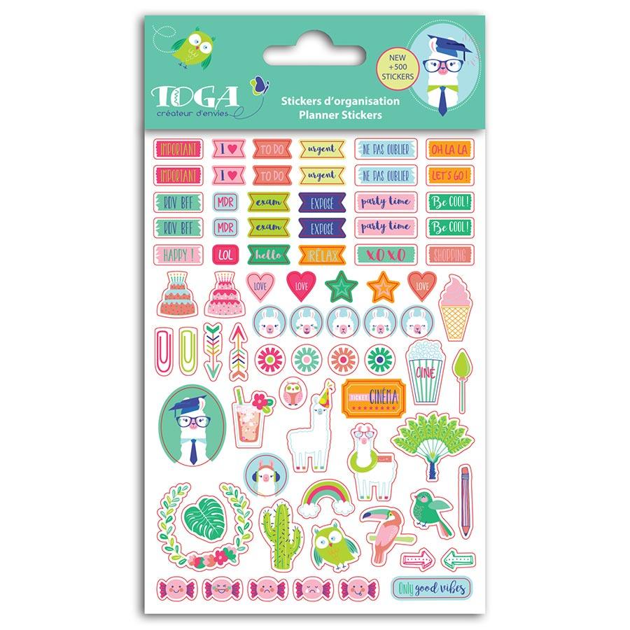 Planche À Découper Humoristique stickers d'organisation oh lama - 8 planches