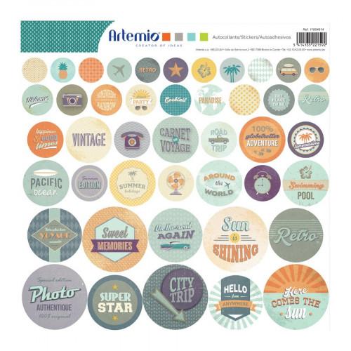 Sweet Memories - Stickers ronds - 30 x 30 cm