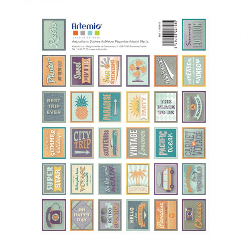 Sweet Memories - Timbres autocollants