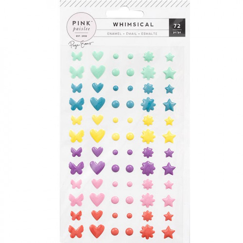 Whimsical Enamel Dots - 72 pcs