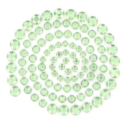 Rhinestones - Mint green