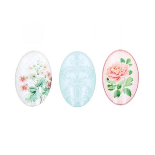 Cabochons en verre Secret Garden - 6 pcs