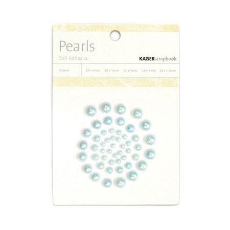 Demi-perles adhésives Bliss - bleu clair