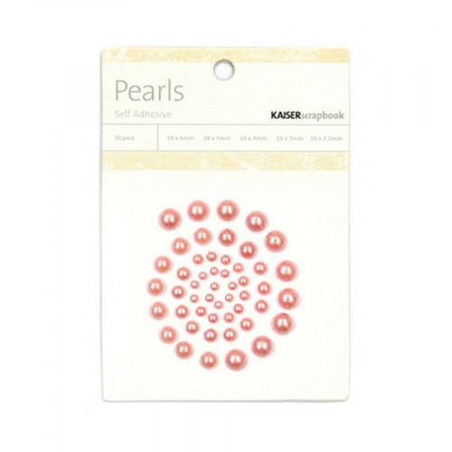 Demi-perles adhésives - rose