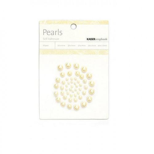 Demi-perles adhésives Champagne