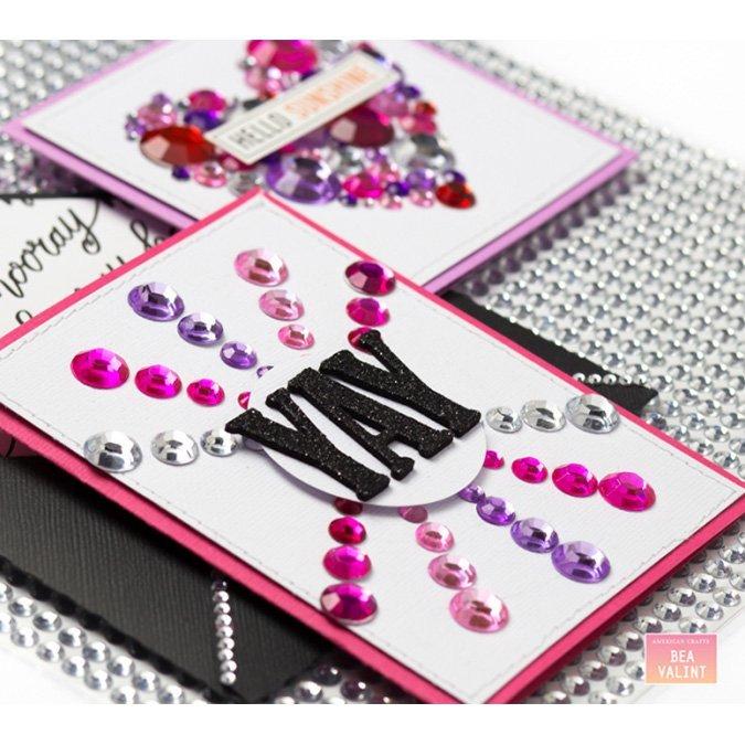 Carré de perles adhésives - 25,5 x 25,5 cm