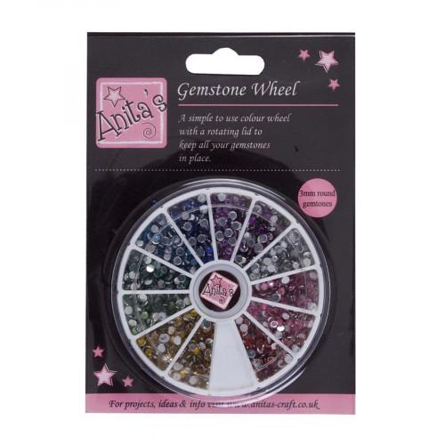 Gemstone Wheel - Strass - 3 mm - 12 couleurs