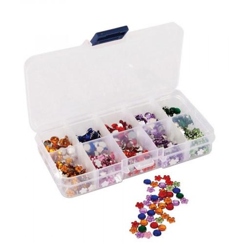 Gems & Organiser - Boîte  de Strass - 750 pces