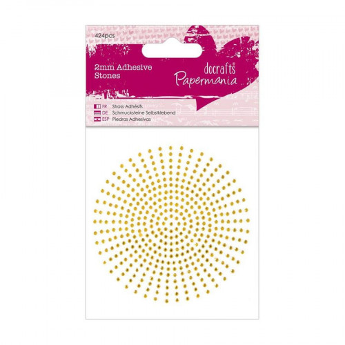 Strass - 2 mm - Or - 424 pces