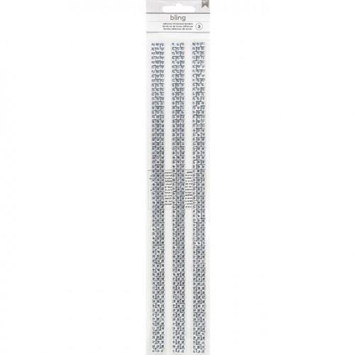 Bordures de strass adhésives - argent - 30,5 cm - 3 pcs