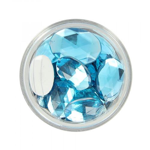 Boîte de strass à coller en résine - Bleu clair - Taille aléatoire de 14 à 18 mm