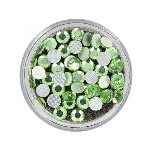 Boîte de strass Hotfix - Vert d'eau - Ø 5 mm