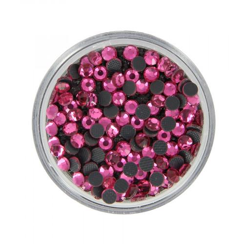 Boîte de strass Hotfix - Rose - Ø 3,5 mm