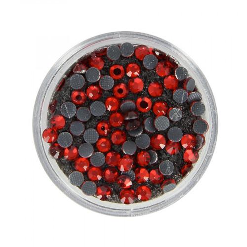 Boîte de strass Hotfix - Rouge - Ø 3,5 mm